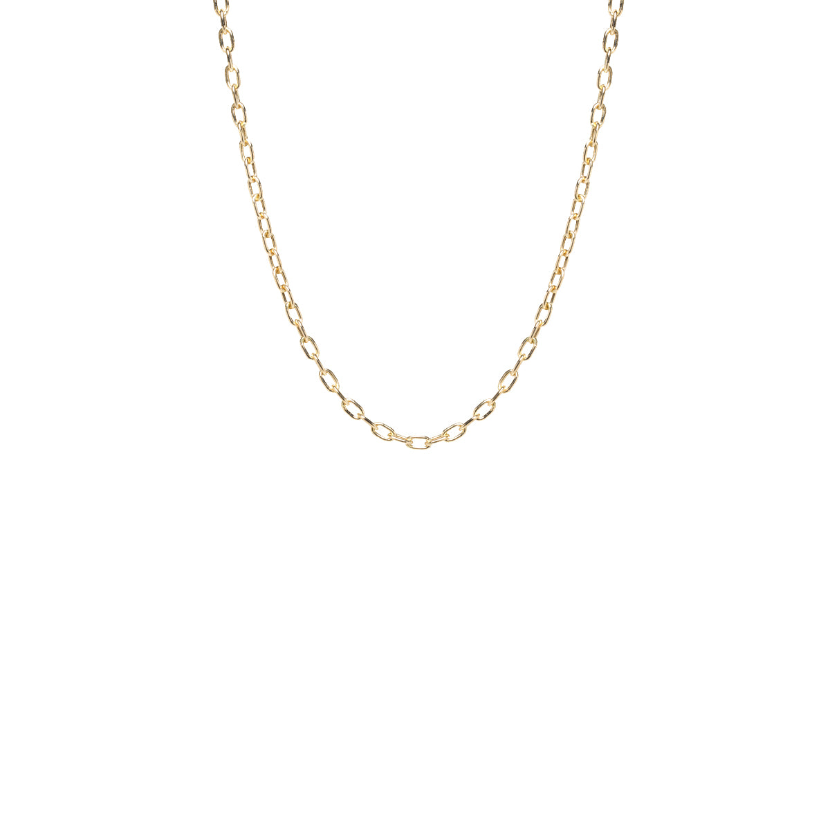 14k gold small square oval link chain