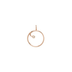 Zoë Chicco 14kt Rose Gold White Diamond Circle Charm Holder