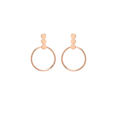 Zoë Chicco 14kt Rose Gold 3 Disc and Circle Post Earrings