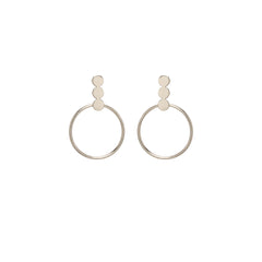 Zoë Chicco 14kt White Gold 3 Disc and Circle Post Earrings