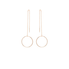 Zoë Chicco 14kt Gold Large Open Circle Threader Earrings