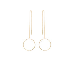 Zoë Chicco 14kt Yellow Gold Large Open Circle Threader Earrings