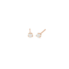 14k opal prong studs | OCTOBER BIRTHSTONE