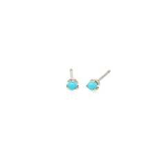 14k turquoise prong studs