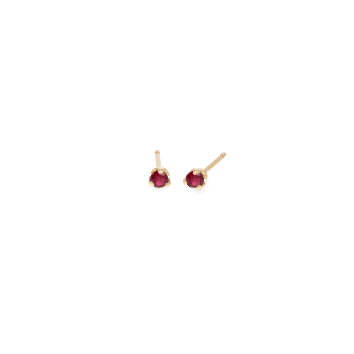 14k small ruby prong studs | JULY BIRTHSTONE