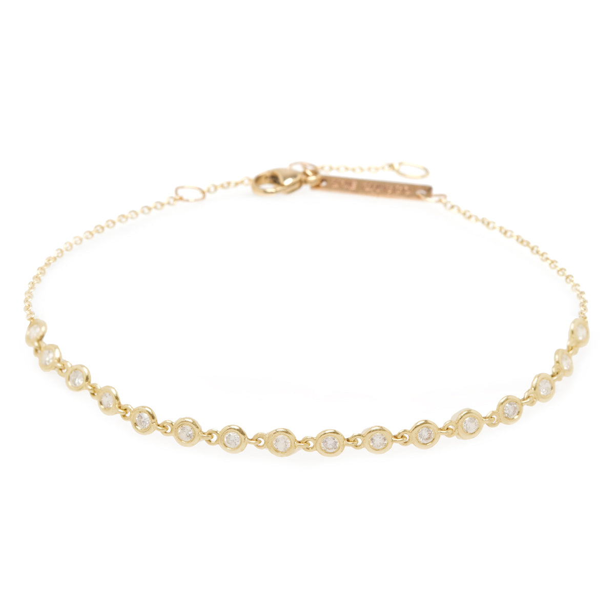 14k linked diamond tennis bracelet