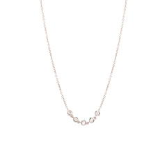 Zoë Chicco 14kt White Gold Floating Diamond Curved Bar Necklace