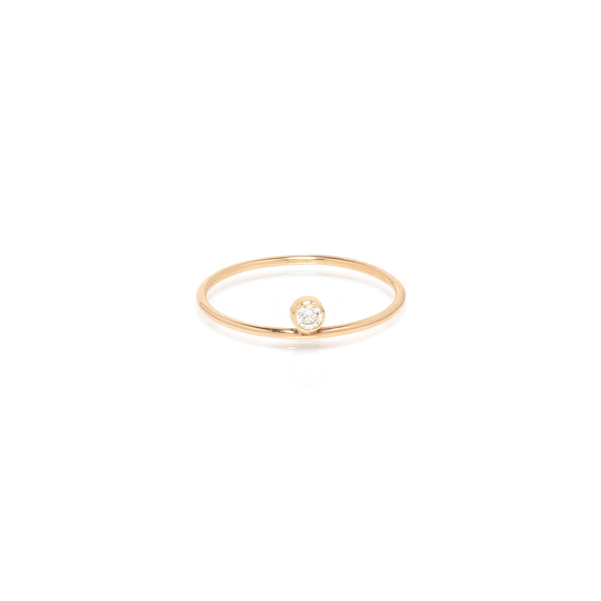 14k floating bezel diamond ring