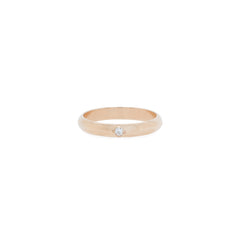 14k half round ring with star set diamond