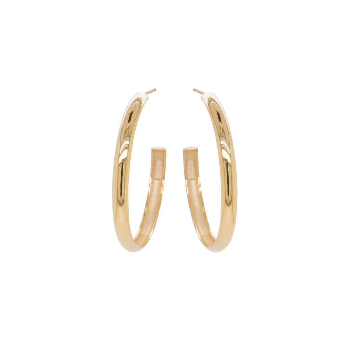 14k large chubby hoops