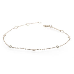 14k 3 diamond shapes bracelet with floating diamonds
