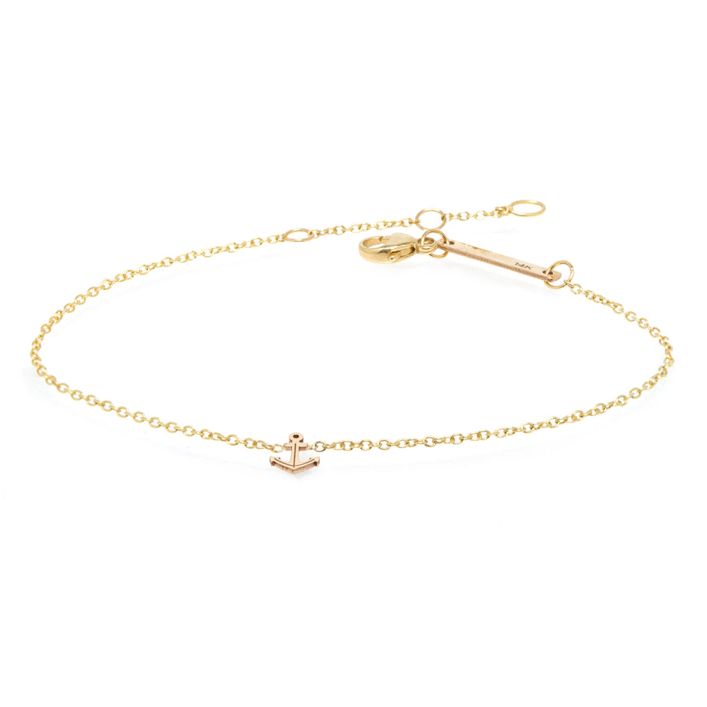 14k Itty Bitty Anchor Bracelet