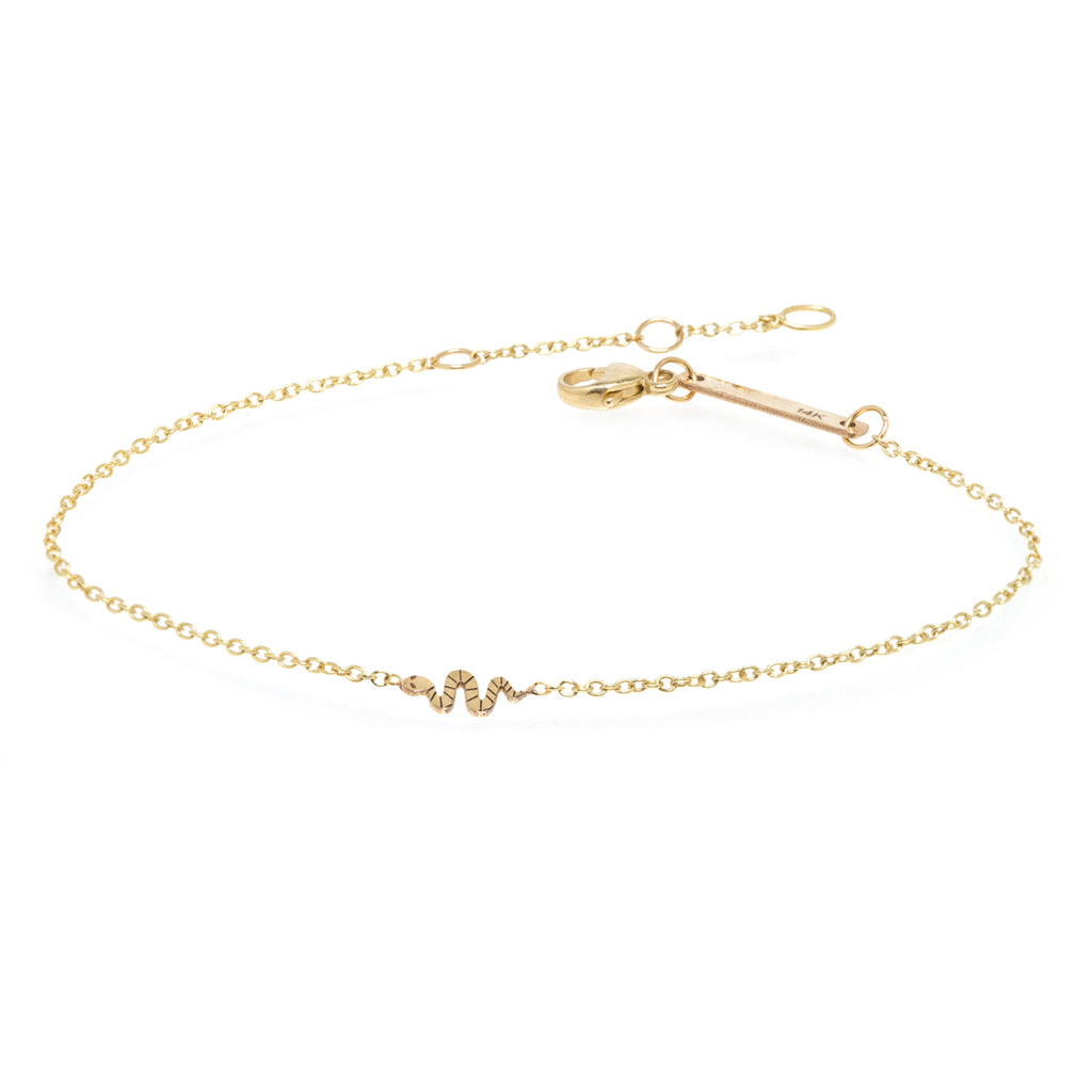 yellow gold snake charm bracelet