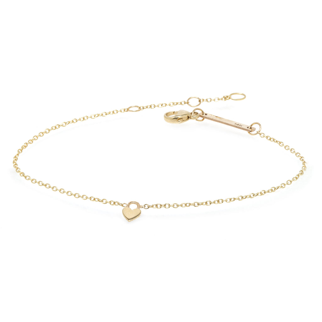 yellow gold heart padlock charm bracelet