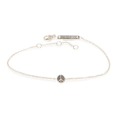 14k itty bitty peace sign bracelet