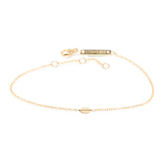 14k itty bitty lips bracelet