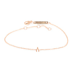 14k itty bitty wishbone bracelet