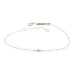 14k itty bitty diamond shaped bracelet with pave diamonds