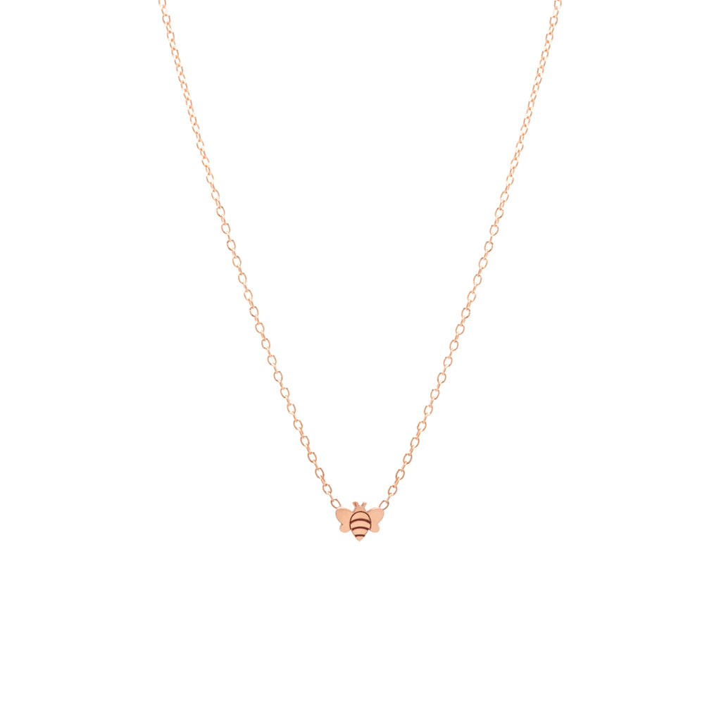 14k itty bitty bee necklace
