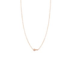 Zoë Chicco 14kt Rose Gold Itty Bitty Key Necklace