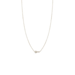 Zoë Chicco 14kt White Gold Itty Bitty Key Necklace