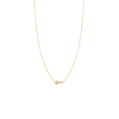 Zoë Chicco 14kt Yellow Gold Itty Bitty Key Necklace