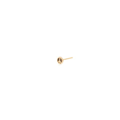 14k itty bitty peace sign stud