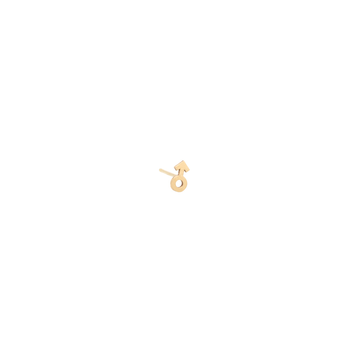 14k itty bitty male symbol stud