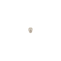 14k diamond itty bitty skull stud