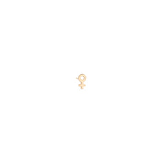 14k itty bitty female symbol stud