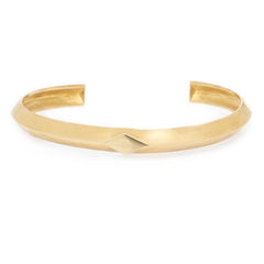 14k wide knife edge cuff