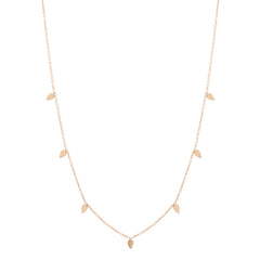 Zoë Chicco 14kt Rose Gold 7 Itty Bitty Tear Long Station Necklace