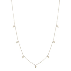 Zoë Chicco 14kt White Gold 7 Itty Bitty Tear Long Station Necklace