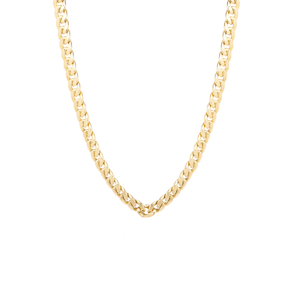 14k gold large curb chain necklace