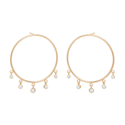 03e5953d7457c 14k large front circle hoop earrings with graduated dangling opals