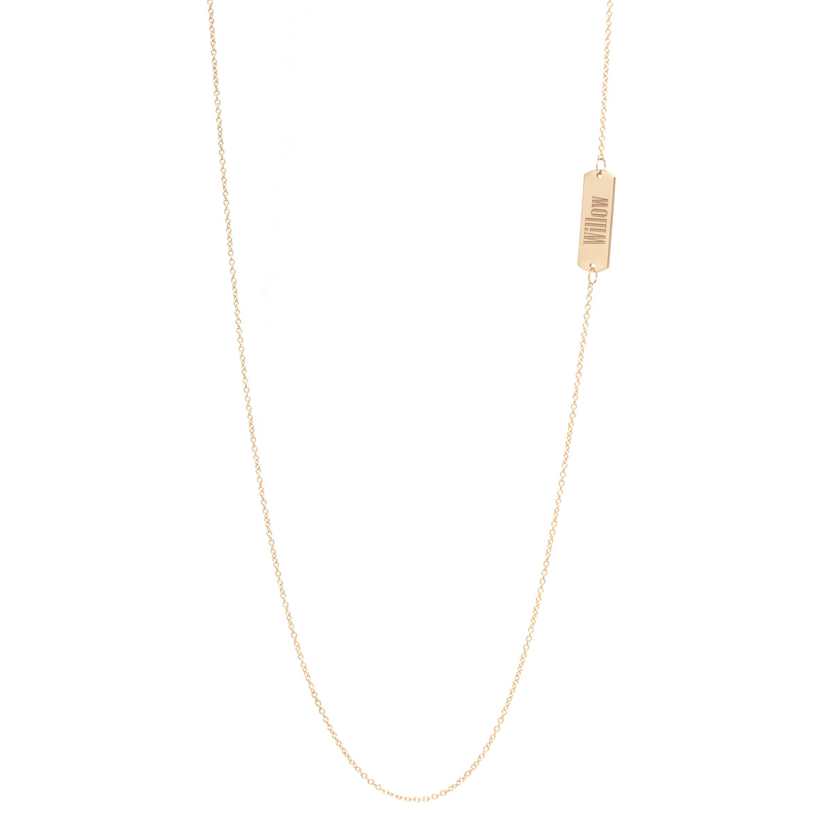 14k long ID necklace