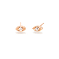 14k large diamond eye studs