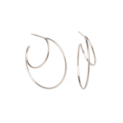 14k double wire large hoops