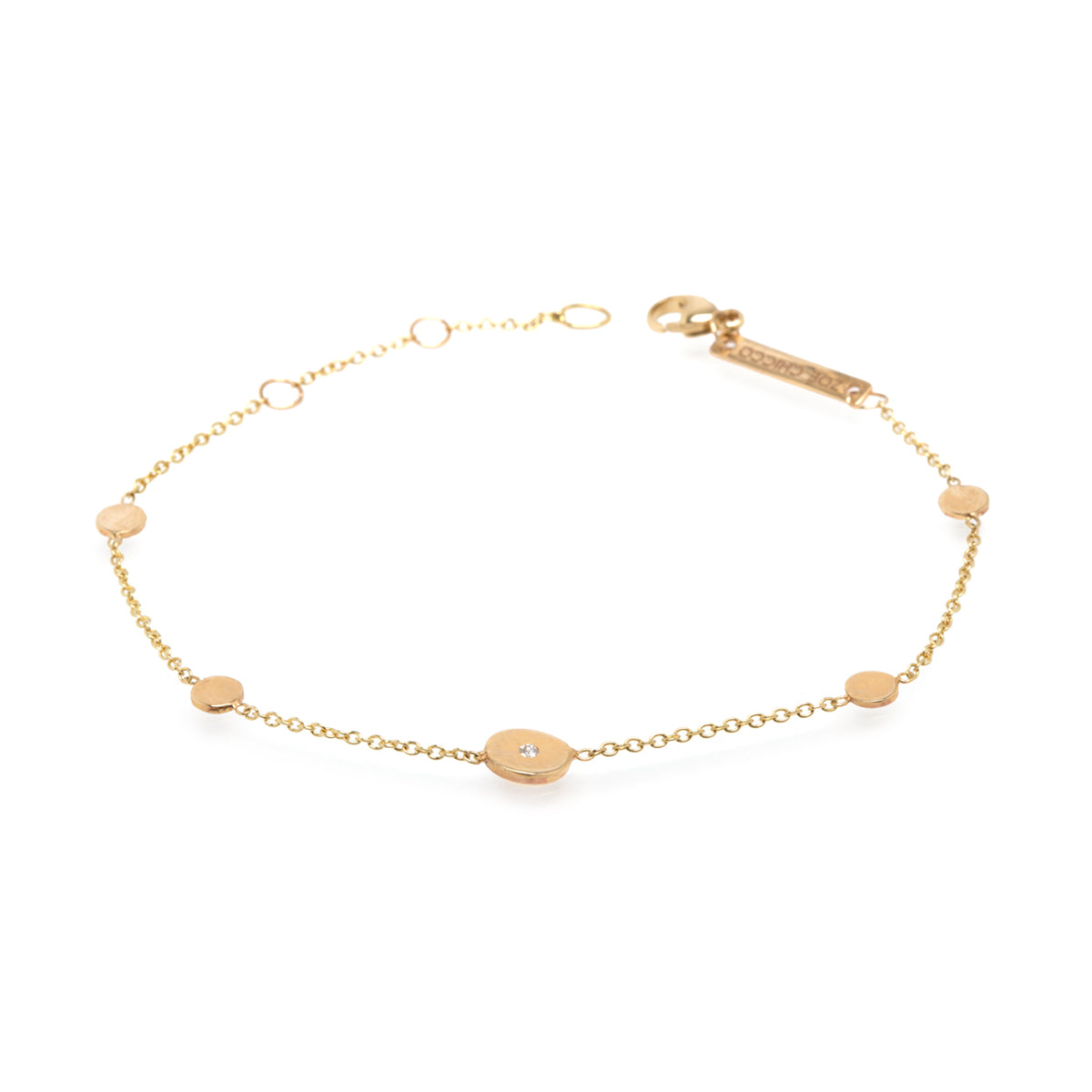 single bracelet diamond little clover product gold