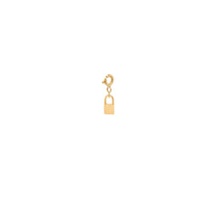 14k midi bitty padlock charm pendant with spring ring