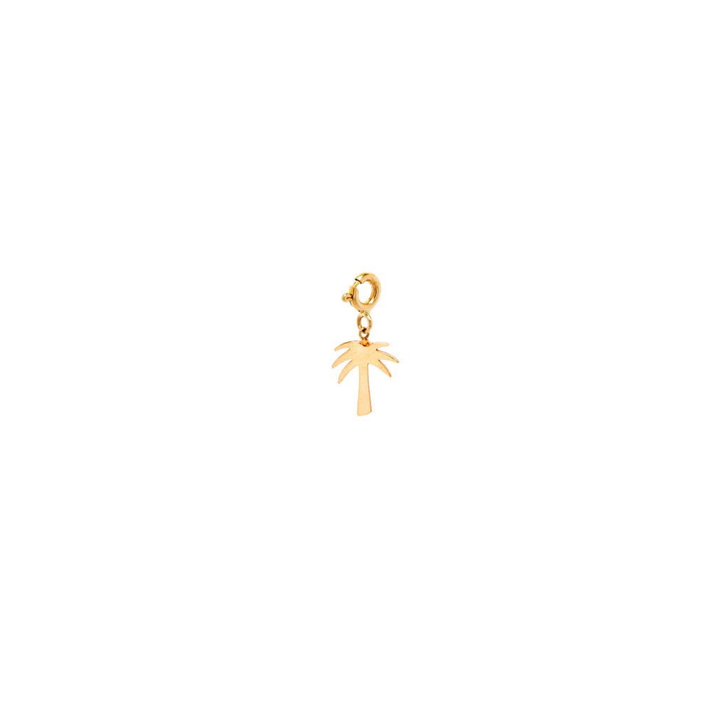 14k midi bitty palm tree charm with spring ring