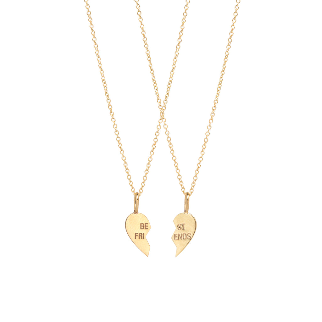 14k midi bitty BFF necklace set