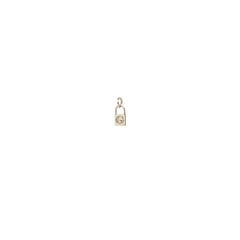 14k single midi bitty initial padlock charm pendant