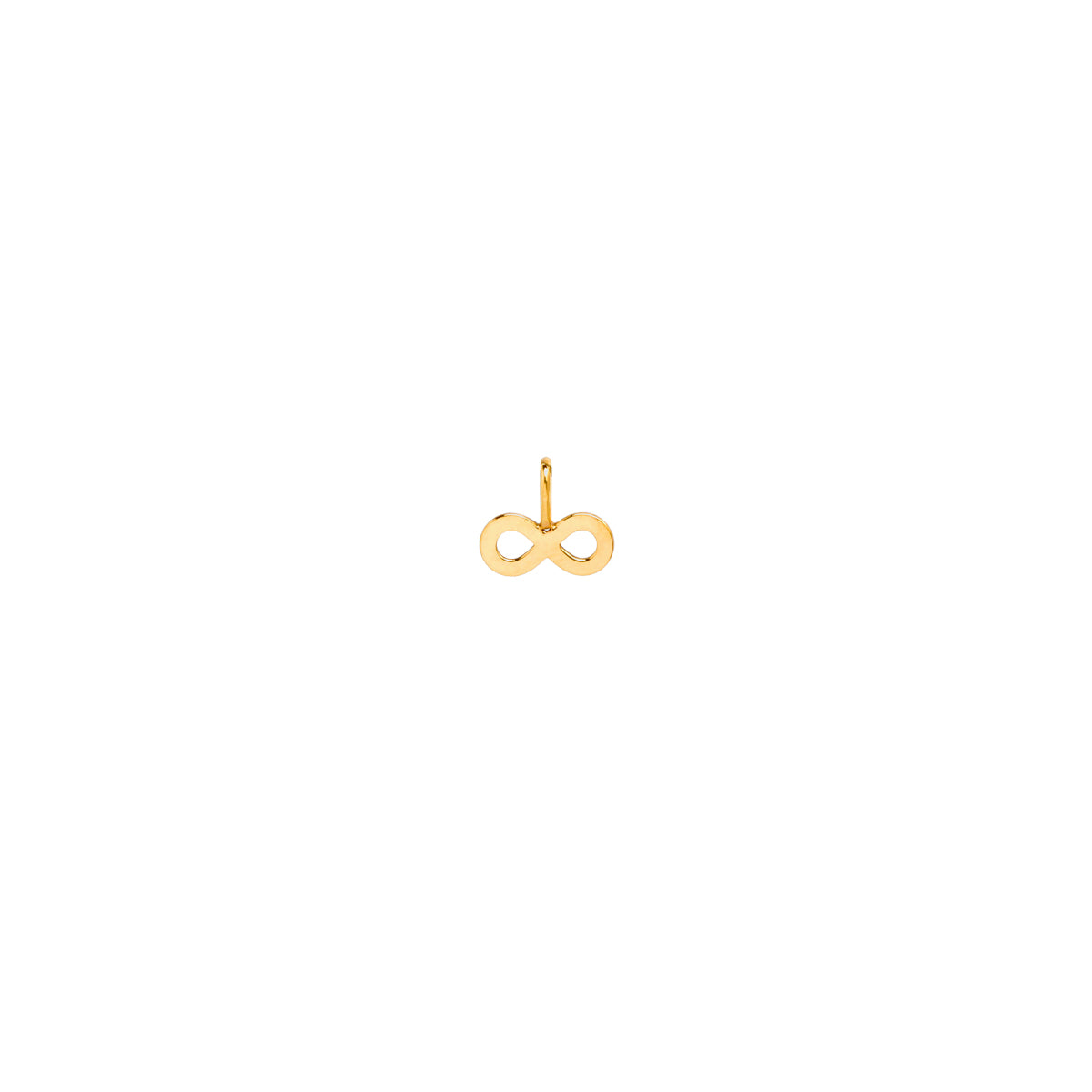 14k single midi bitty infinity charm