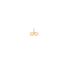 14k single midi bitty pave infinity charm
