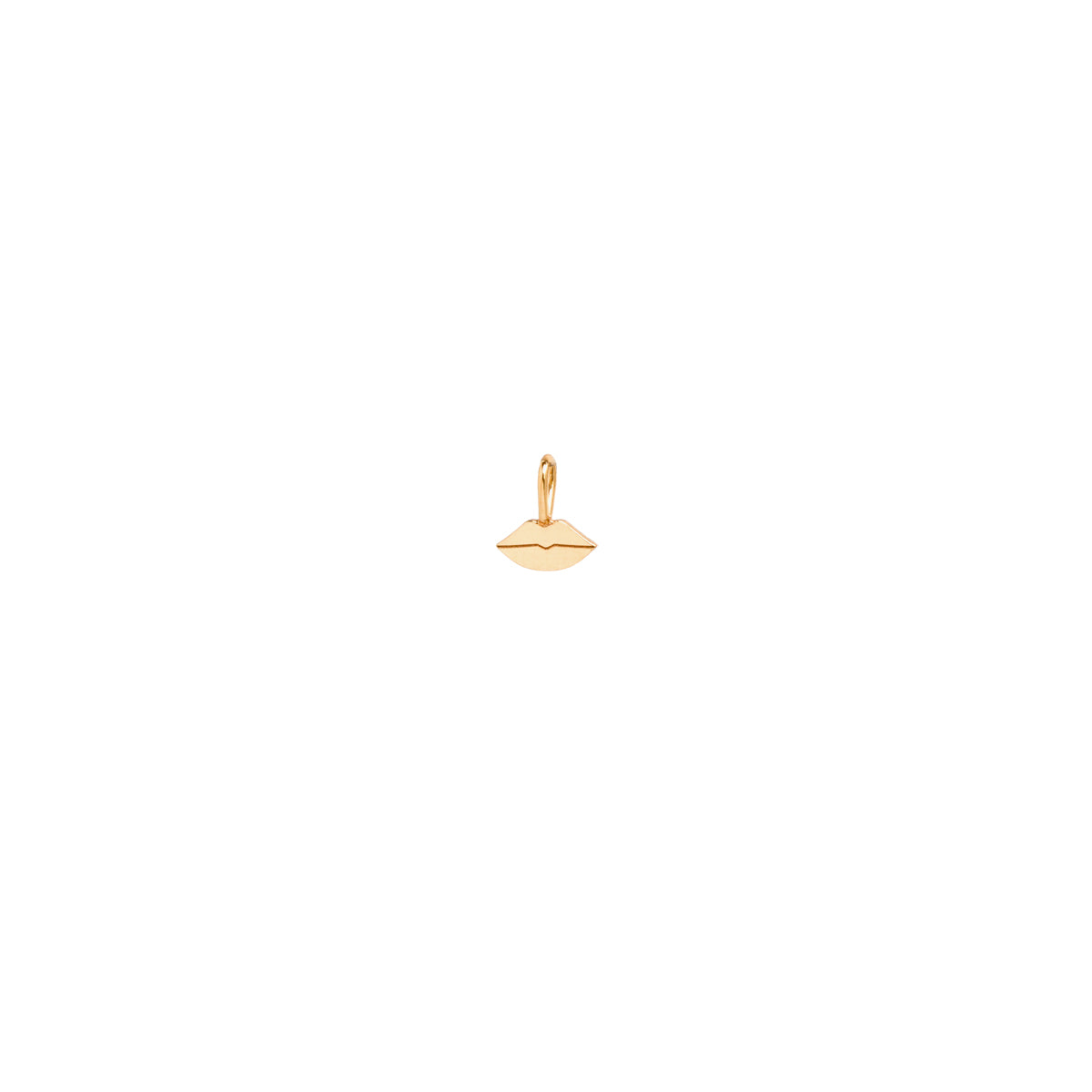 14k single midi bitty lips charm