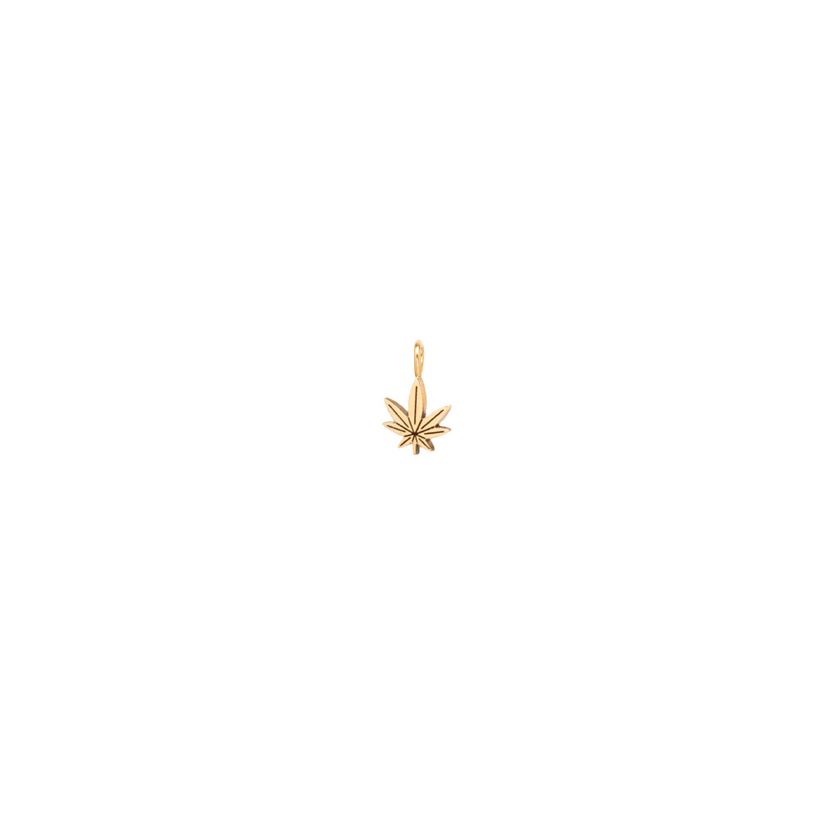 14k single midi bitty mary jane charm pendant