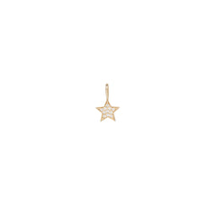 14k midi bitty pave diamond star charm pendant