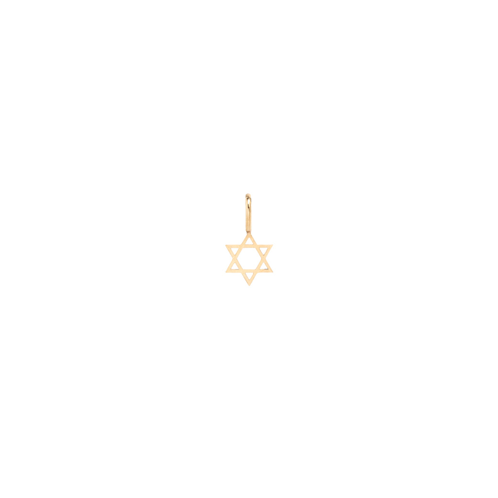 14k midi bitty Star of David charm