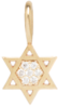 14k midi bitty pave Star of David charm